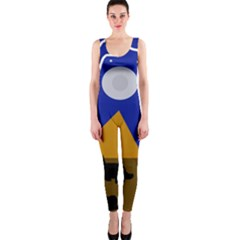 Decorative abstraction OnePiece Catsuit