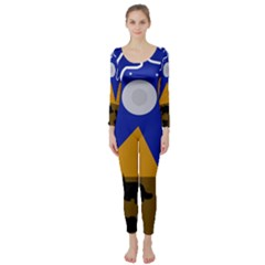 Decorative abstraction Long Sleeve Catsuit
