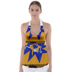 Decorative abstraction Babydoll Tankini Top