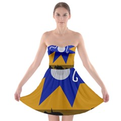 Decorative abstraction Strapless Dresses