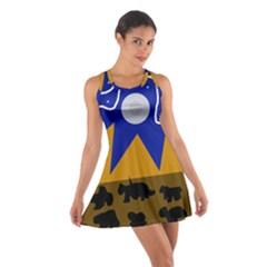 Decorative abstraction Cotton Racerback Dress