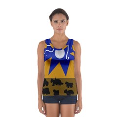 Decorative Abstraction Women s Sport Tank Top