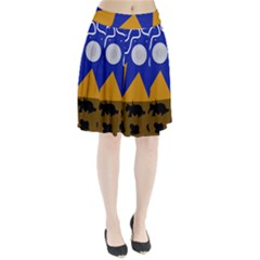 Decorative abstraction Pleated Skirt