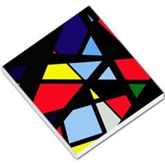 Colorful geomeric desing Small Memo Pads