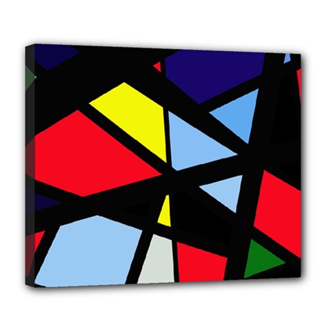 Colorful geomeric desing Deluxe Canvas 24  x 20