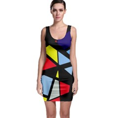 Colorful geomeric desing Sleeveless Bodycon Dress