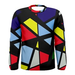 Colorful geomeric desing Men s Long Sleeve Tee