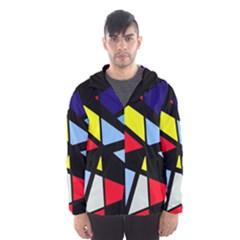 Colorful geomeric desing Hooded Wind Breaker (Men)