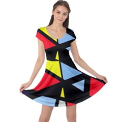Colorful geomeric desing Cap Sleeve Dresses
