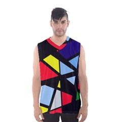 Colorful geomeric desing Men s Basketball Tank Top