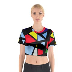 Colorful Geomeric Desing Cotton Crop Top