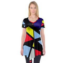 Colorful geomeric desing Short Sleeve Tunic