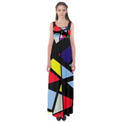 Colorful geomeric desing Empire Waist Maxi Dress