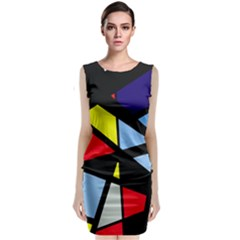 Colorful geomeric desing Classic Sleeveless Midi Dress