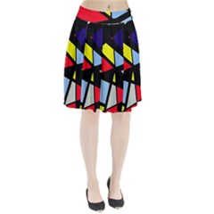 Colorful Geomeric Desing Pleated Skirt