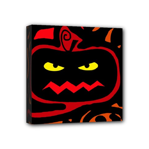 Halloween pumpkin Mini Canvas 4  x 4