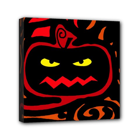 Halloween pumpkin Mini Canvas 6  x 6
