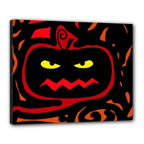 Halloween pumpkin Canvas 20  x 16