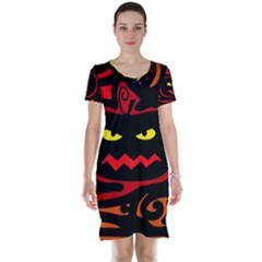 Halloween pumpkin Short Sleeve Nightdress