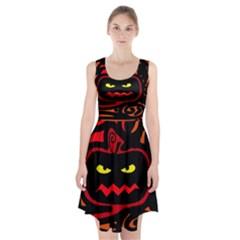 Halloween Pumpkin Racerback Midi Dress