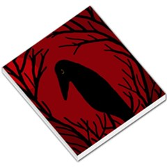 Halloween raven - red Small Memo Pads