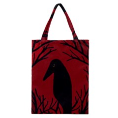 Halloween raven - red Classic Tote Bag
