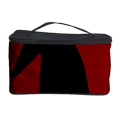 Halloween raven - red Cosmetic Storage Case