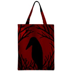 Halloween raven - red Zipper Classic Tote Bag
