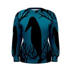 Halloween raven - Blue Women s Sweatshirt