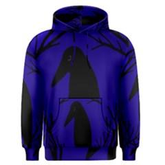 Halloween raven - deep blue Men s Pullover Hoodie