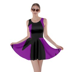 Halloween raven - purple Skater Dress