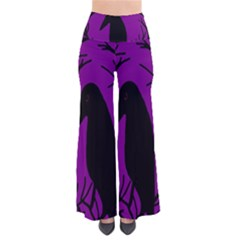 Halloween raven - purple Pants