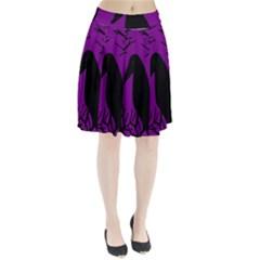 Halloween Raven   Purple Pleated Skirt