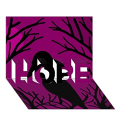 Halloween raven - magenta HOPE 3D Greeting Card (7x5)