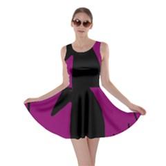 Halloween raven - magenta Skater Dress