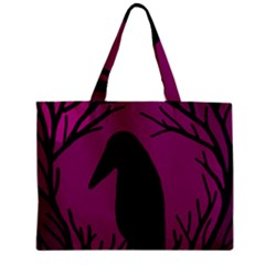 Halloween raven - magenta Zipper Mini Tote Bag