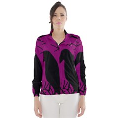 Halloween raven - magenta Wind Breaker (Women)