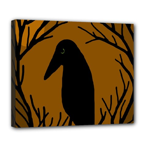 Halloween raven - brown Deluxe Canvas 24  x 20