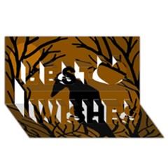 Halloween raven - brown Best Wish 3D Greeting Card (8x4)
