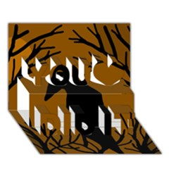 Halloween Raven   Brown You Did It 3d Greeting Card (7x5)