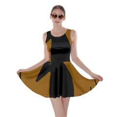 Halloween raven - brown Skater Dress
