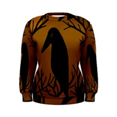 Halloween raven - brown Women s Sweatshirt