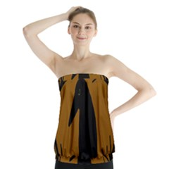 Halloween raven - brown Strapless Top