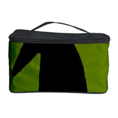 Halloween raven - green Cosmetic Storage Case