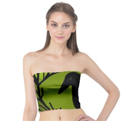 Halloween raven - green Tube Top