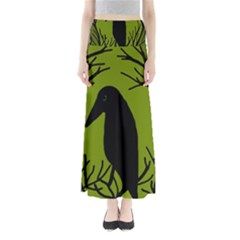 Halloween raven - green Maxi Skirts