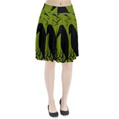 Halloween Raven   Green Pleated Skirt