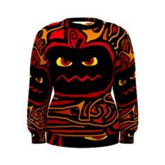Halloween decorative pumpkin Women s Sweatshirt