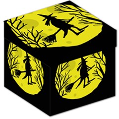 Halloween witch - yellow moon Storage Stool 12
