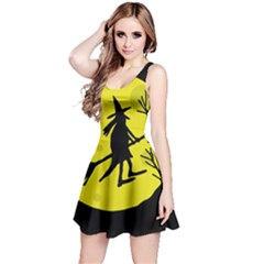 Halloween witch - yellow moon Reversible Sleeveless Dress